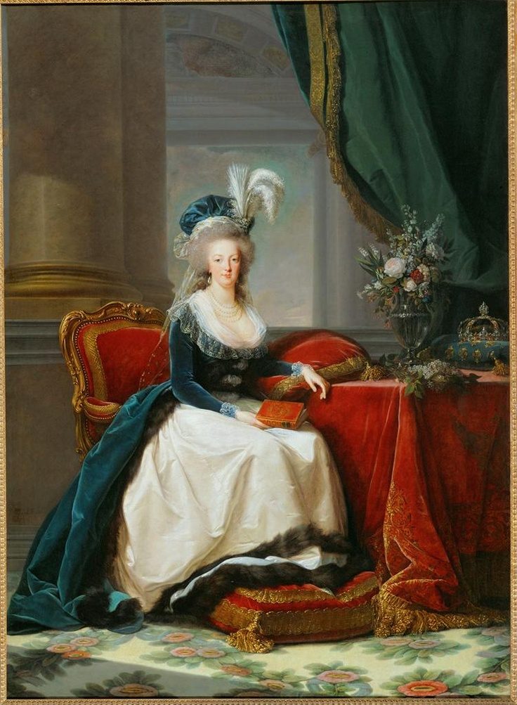 Vigée Lebrun, Marie-Antoinette, 1788, Oil on canvas, 271 × 195 cm (Versailles); sketch on RMN