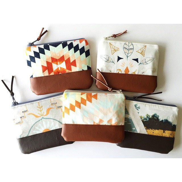 Here are a few more coin purses from earlier in the week too!  Made with @aprilarhodes lovely Wanderer fabric!  #sarahsewsforbazaart #sewandtellhandmade #artgalleryfabrics #wandererfabric