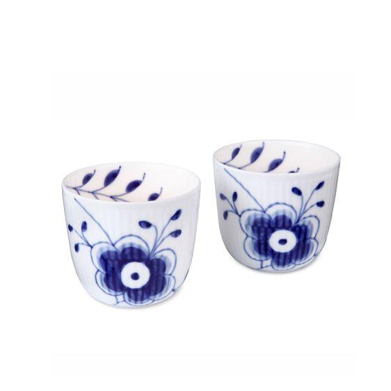 Royal Copenhagen Blue Fluted Mega Tealight holder/ Snack bowl 2-pack