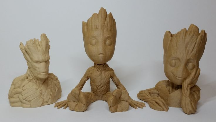 The announcement of Guardians of the Galaxy part 2 created a wave of interest towards Groot. For this character 3D printing in wood seems like ...