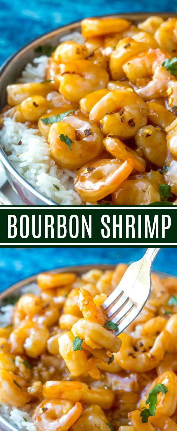 Love Bourbon Chicken? This Bourbon Shrimp recipe takes all those delicious flavors and turns it into a tasty seafood dish with a twist! via @amiller1119