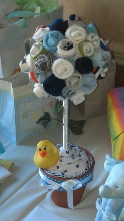 Baby Shower Sock Tree! Such A Cute Gift Idea!
