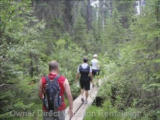 Hiking in Canmore, Alberta
