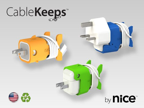 CableKeeps - Organize cables for iPad, iPhone, and iPod Chargers