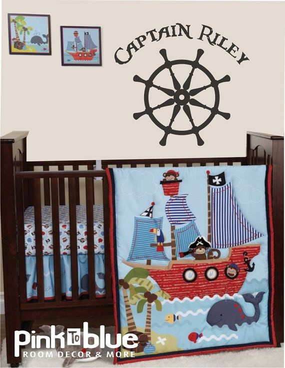 Pirate Wall Decal   Baby Nursery Wall Decals Via Etsy Part 78