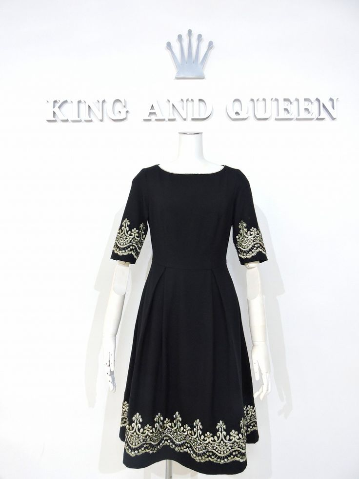 KQ Black Wool Dress with beautiful trim. It's getting cold, don't you need wool dresses for your winter? If you do, please visit our website. KQ - KING AND QUEEN International http://www.worldpeace.jp Fukuoka, Japan +81-92-834-3112 We do international deliver. #wooldress #woolskirt #winterclothing #winterclothes #womensfashion #womensclothing #womens