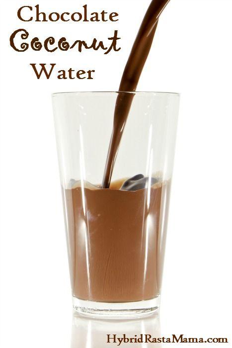 How To Make Chocolate Coconut Water from HybridRastaMama.com