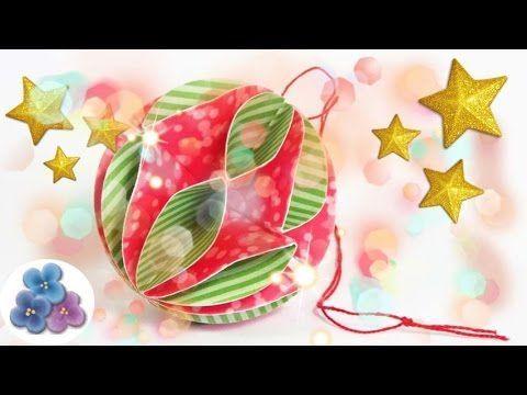 Christmas Balls made of Paper - DIY Papercraft - Christmas Ornaments 201...