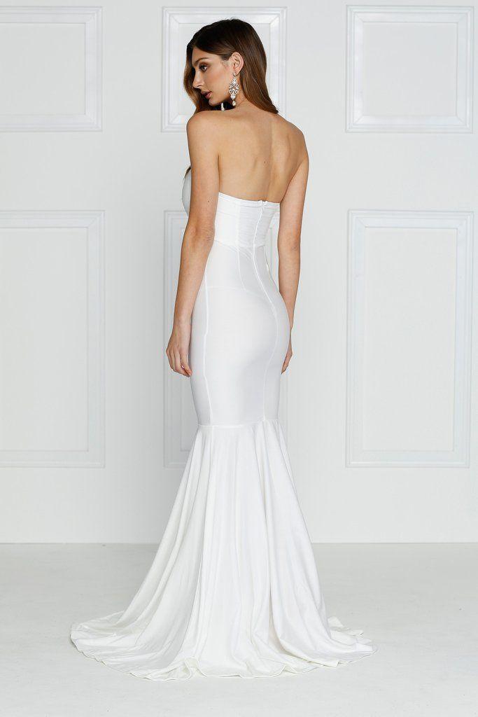 Alamour The Label - Nicoletta White Gown