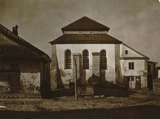 Synagogue juif à Kleck :: Jan Bulhak Collection :: Digital Collections :: University at Buffalo Libraries. Click the image to visit the University at Buffalo Libraries Digital Collection and learn more about the photograph. #ublibraries #polishroom #JanBulhak #Poland