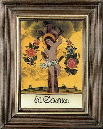Hl Sebastian (Hinterglasbilder)