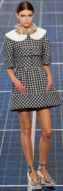 Black and white geometric dress