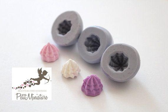 Stampo Panna montata cupcake stampo 3D ST263 di PetitMiniatures