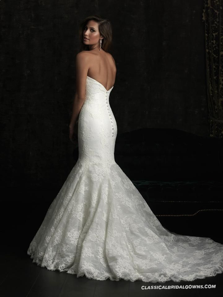 Particular Allure Bridals 8970 Lace Mermaid Wedding Dress | Trumpet Mermaid Wedding Dresses from Our Site