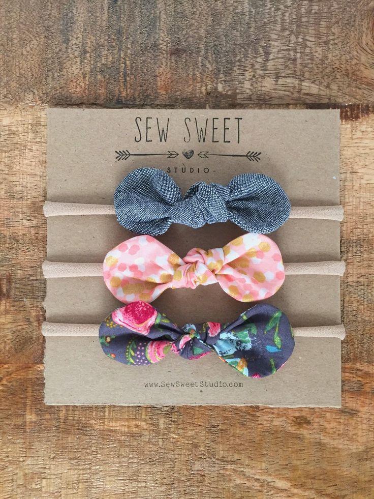 nylon headband + baby headband + toddler headband + one size fits all + set of 3 headbands + baby girl gift + + purple headbands + arrows by SewSweetStudioShop on Etsy https://www.etsy.com/ca/listing/273859794/nylon-headband-baby-headband-toddler