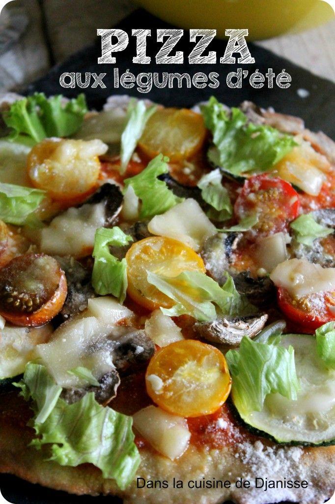 pizza sans gluten aux légumes d'été Vegan