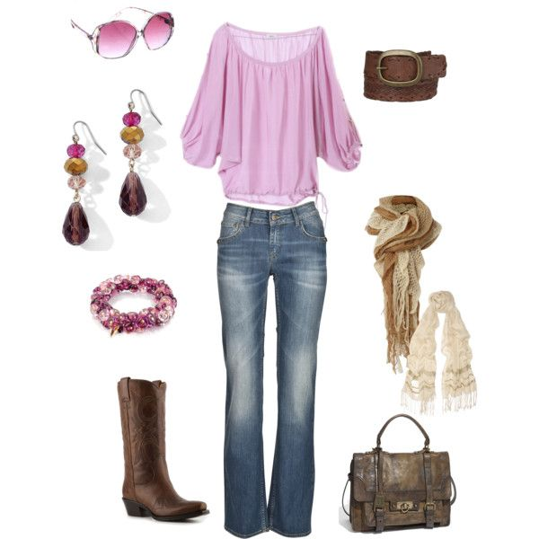 Pink and Brown  polyvore kristen-344