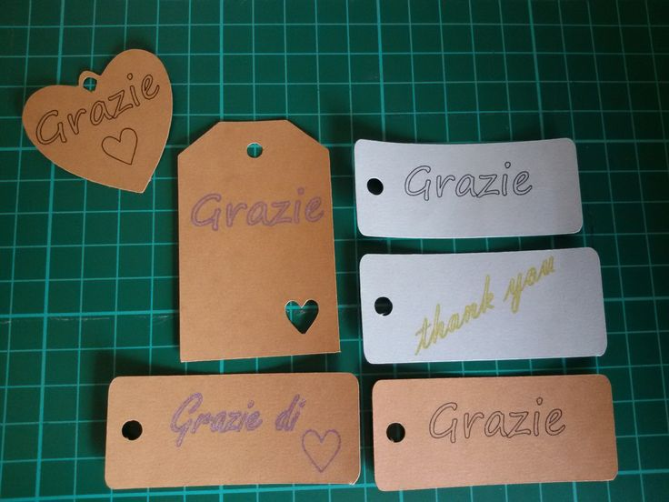 TAGS grazie by Topaziohandmade on Etsy