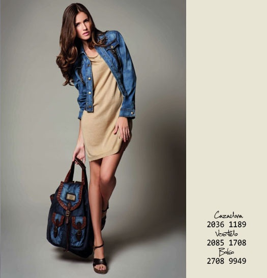 JS HERITAGE - Classic Denim Jacket with Sequins  JS HERITAGE - Denim Bag with Leather details