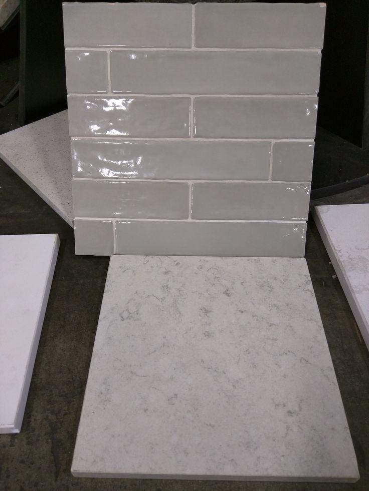 Agora Piastrella Sage Ceramic Backsplash Hanstone Aspen