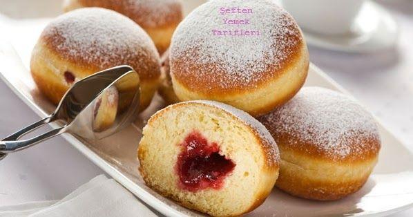 Berliner Nasıl Yapılır?, Alman Çöreği Tarifi Resimli, Alman Pastaları, Reçelli Çörek Tarifi, Resimli Anlatım Berliner Yapılışı