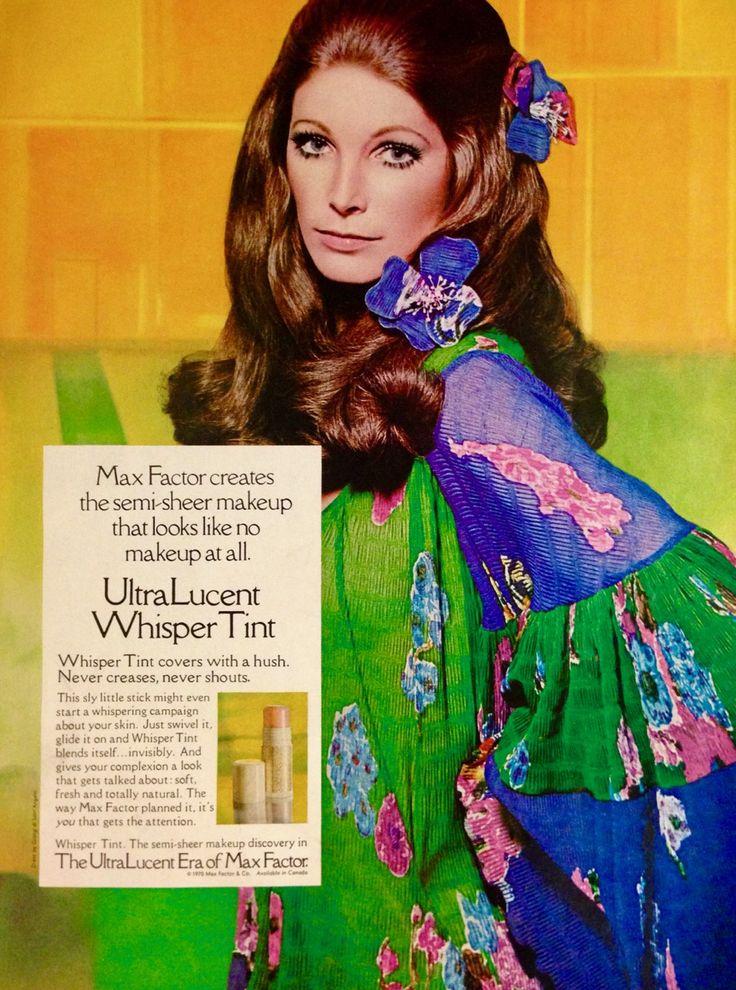 "Max Factor ""UltraLucent Whisper Tint"" Makeup Ad, 1970"