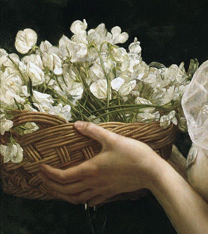 Pea Blossoms, by Edward John Poynter (English, 1836-1919)
