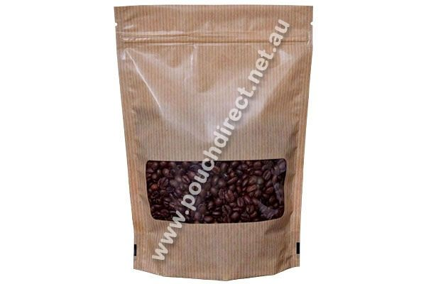We provide aluminium foil laminated #250G #KRAFTLOOK #STANDUPPOUCH #WITHK-SEALBOTTOM & #WINDOW #COFFEEPACKAGINGBAGS, which are designed to keep the products in the best possible conditions.