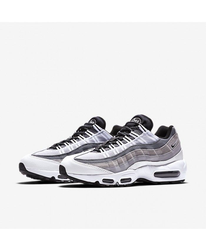 7542399b2cfd Nike Air Max 95 Essential White Wolf Grey Cool Grey Black Mens Shoes ...