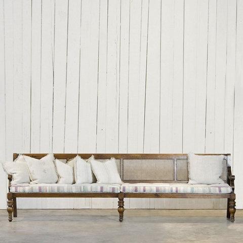 Cane Back Settee - Furniture - RLH Collection - Ralph Lauren Home - RalphLaurenHome.com