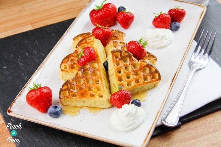 Syn Free Strawberry & Vanilla Waffles