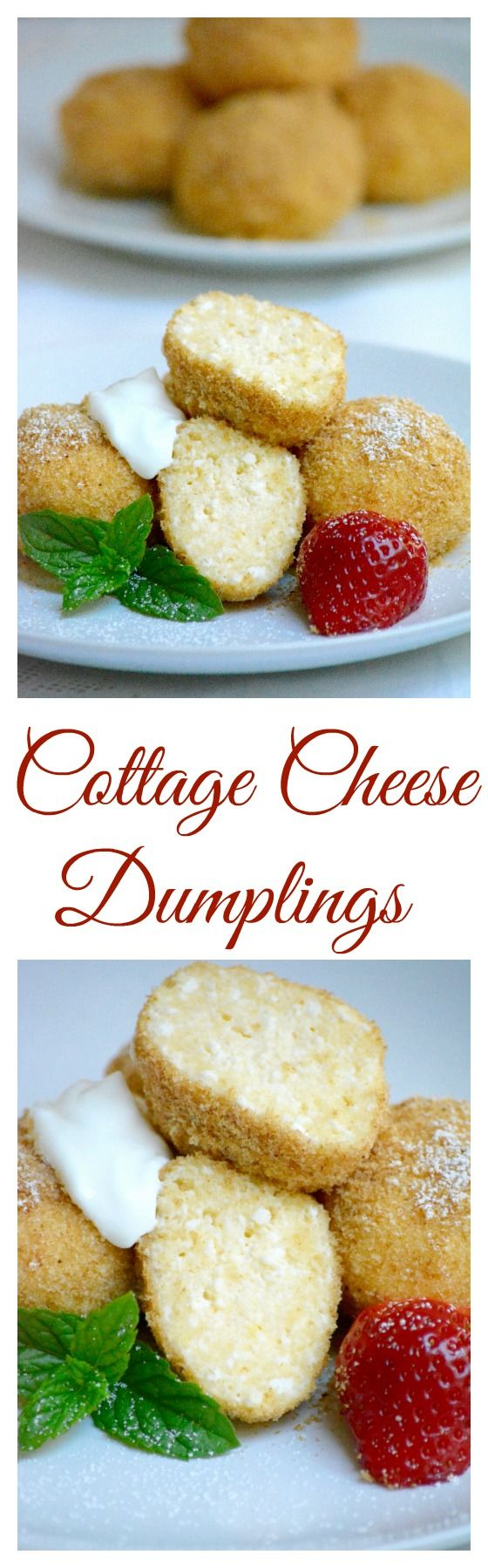 Hungarian cottage cheese dumplings (Túrógombóc) are simply heaven if you are a fan of not too sweet desserts. It is very easy to make, instead of cottage cheese you can use farmer's cheese or fresh ricotta. It's flavor will remind you cheesecake. Click for the recipe.