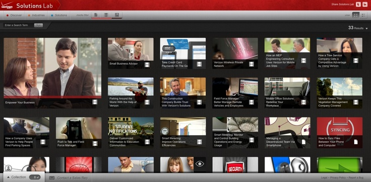 Verizon Solutions Lab Solutions, Discover, Digital