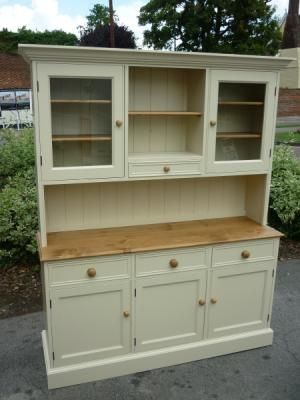 Painted 5 Open Hutch Dresser