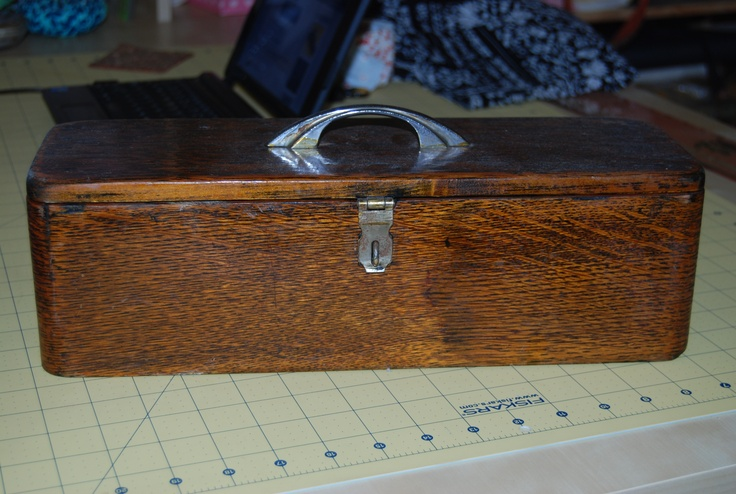 Singer sewing machine accessory box from my Granny. :)  @paulsciarra