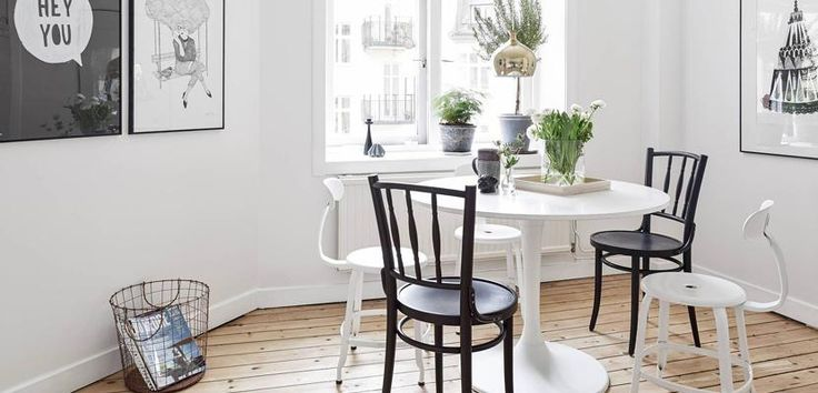 Dining room with Nordic style