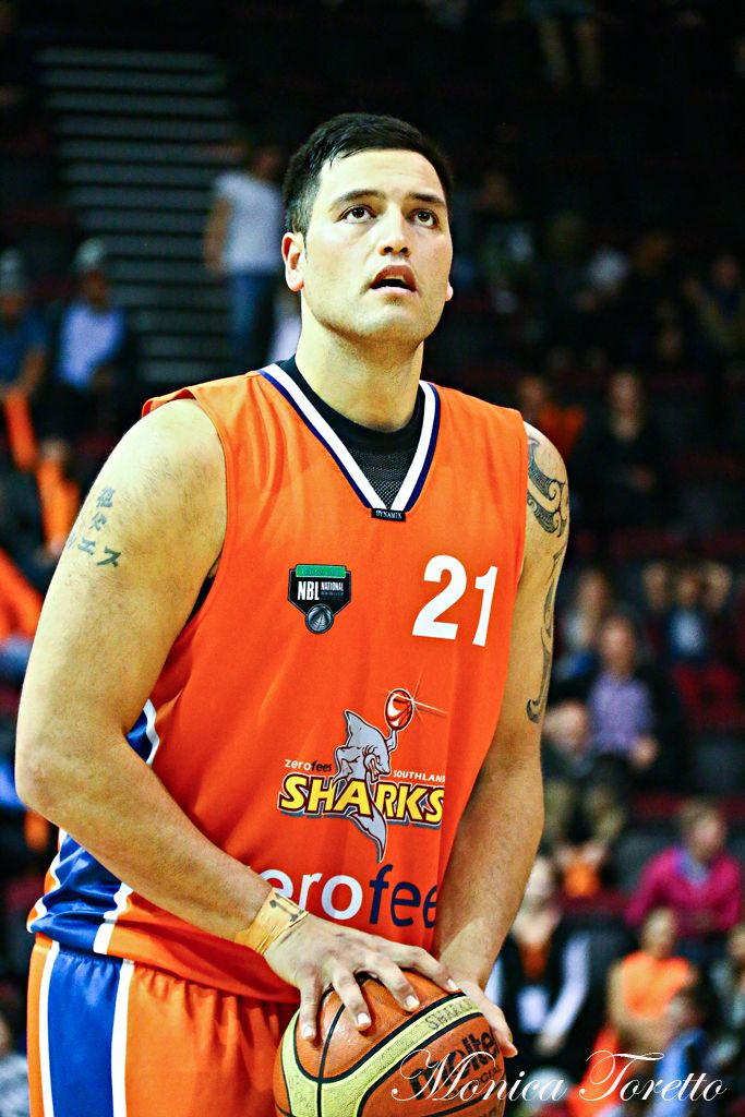 Southland Sharks' James Paringatai in the game against Manawatu Jets at Stadium Southland.  June 07, 2014.   Sharks won 91-83.
