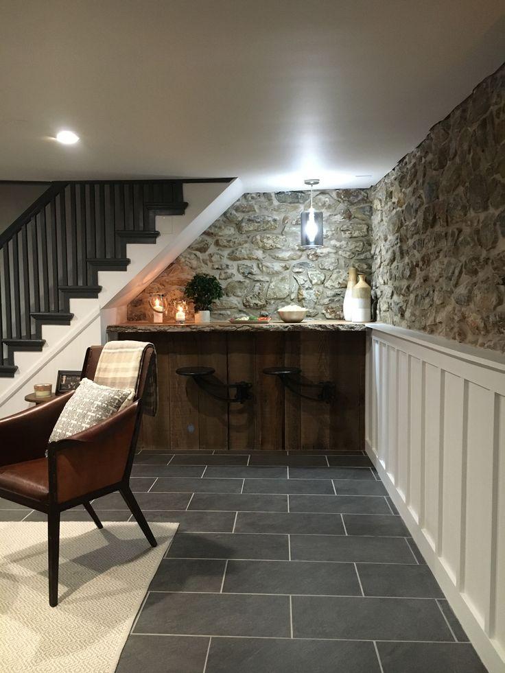 Grungy 1700s basement turned bar / hangout space. Stone House Revival - Season One.
