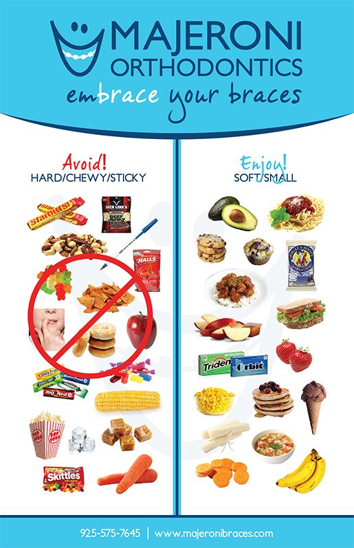 Foods U Cant Eat With Braces
