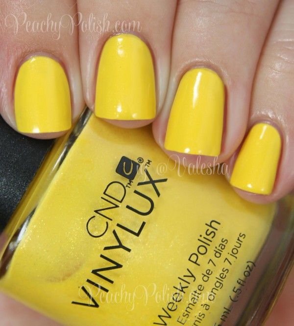 CND VINYLUX Bicycle Yellow | Summer 2014 Paradise Collection | Peachy Polish