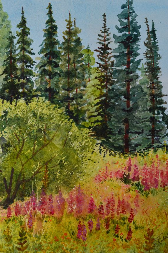 Landscape watercolor painting original, fine art painting, landscape watercolors, landscape painting, wildflowers meadow, pine trees, flowers This listing is for a landscape watercolor painting original. Black Mountain Wildflowers, was painted in the Routt National Forest in Colorado. This fine art painting is of a forest meadow with pink, yellow and orange wildflowers. The background is mountains, spruce and pine trees. Mountain Wildflowers Watercolor on paper 9 x 12 unframed approx. 14 x…