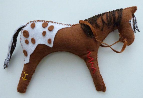 Appaloosa Native American Indian horse doll by MokiTradingPost, £9.00