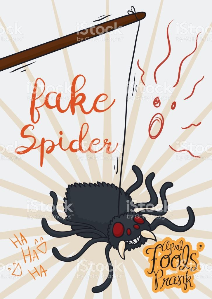 Scary Prank with Fake Spider for April Fools' Day