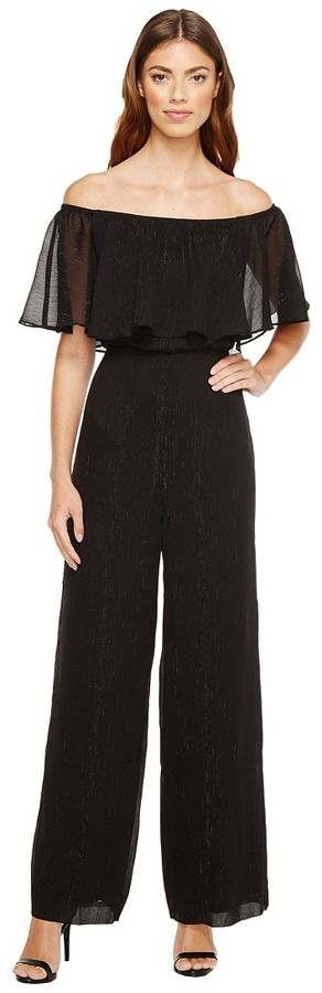 Donna Morgan Off Shoulder Jumpsuit
