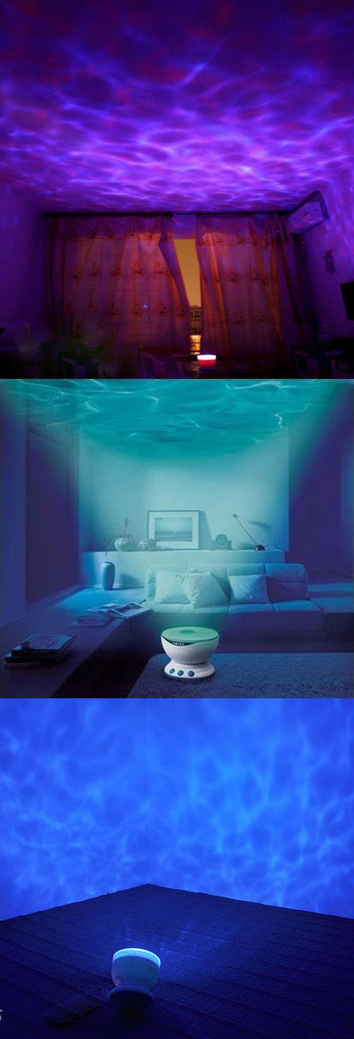 This small projection lamp that creates a sparkling wave effect on any ceiling or wall. Use it in your bedroom, bathroom or living room to transform it into a place of peace and calm.