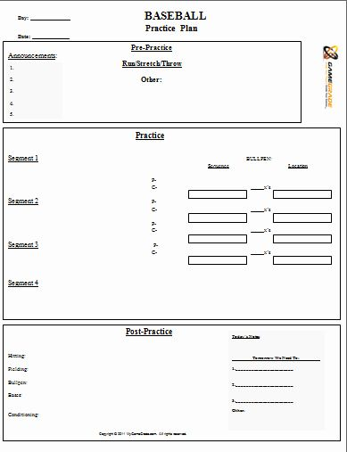 Blank Basketball Practice Plan Template Awesome 28 Of