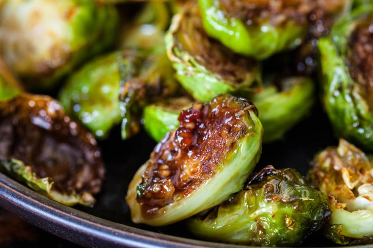 Roasted Brussels Sprouts with Sweet Chili Sauce Recipe | Steamy Kitchen Recipes