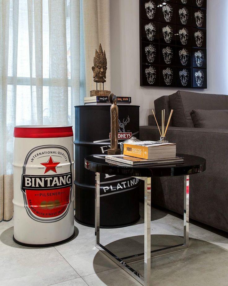 Bintang Pilsen #drum #oildrum #industrialdesign #barril #rebecaguerra #lata #decoração #bintang