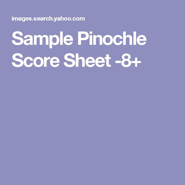 Sample Pinochle Score Sheet Phase Dice Score Sheet Phase Dice Score