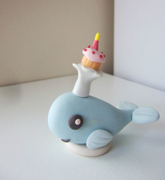 Whale Birthday Cake Topper by houseofirisgs on Etsy, $23.00